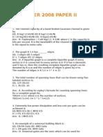 December 2008 Ugc Net Computer Science - Paper II Solved