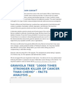 Can Graviola Cure Cancer ?