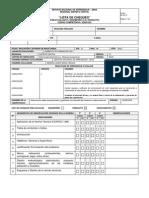 Lista de Chequeo Informe Tecnico