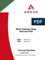 AREVA Motor Protectionn MiCOM P220 225 TechnicalDatasheet En