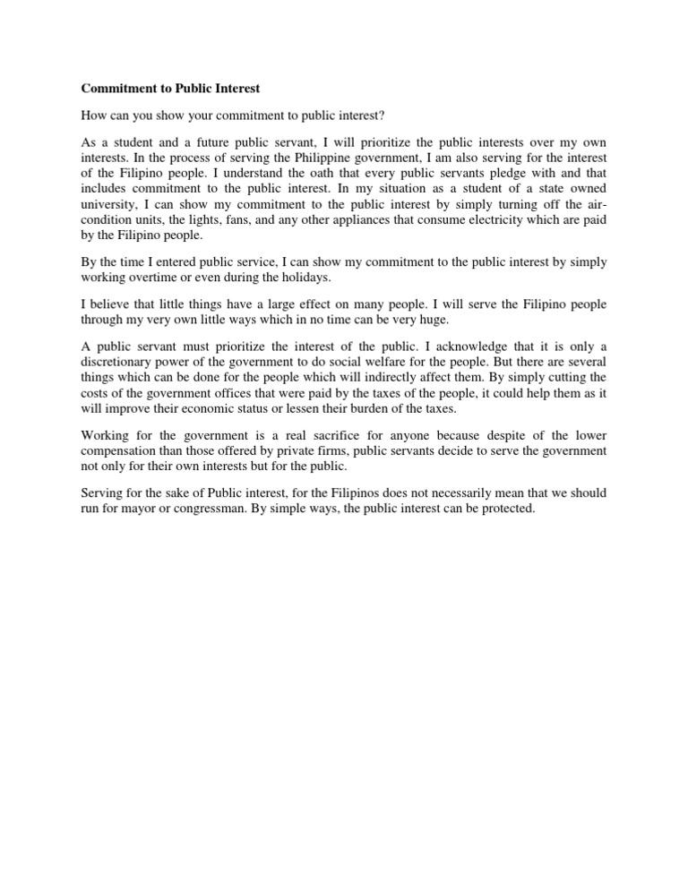 Essay On Public Service