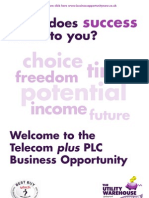 Utility Warehouse Telecom Plus Business Opportunity