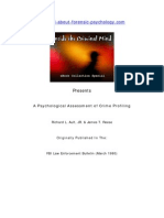 Psychological Assessment of Crime Profiling