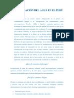 Contaminacion en Rios y Cuencas - Minas-Aguas Urbanas