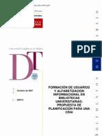 FORMACIÓN DE USUARIOS Y ALFABETIZACIÓN INFORMACIONAL EN BIBLIOTECAS UNIVERSITARIAS - PROPUESTA DE PLANIFICACIÓN PARA UNA CRAI