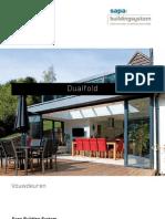 Dualfold - aluminium vouwdeuren - Sapa Building System