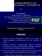 Oerview of Procurement and Materials Management in Contracts