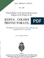 Kenya Colony and Protectorate