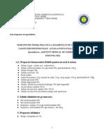 Teme Proba Practica Farmacie 2012