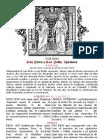 San Pedro y San Pablo. 29 de junio. Folleto bilingüe. Forma extraordinaria del Rito Romano