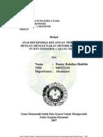 Analisis Kinerja Keuangan Perusahaan Dengan Menggunakan Metode Rasio Pada PT. BTN (Persero) Cabang Medan