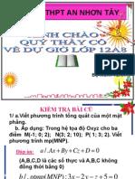Phương trình đường thẳng ( t1)