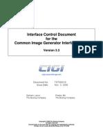 Interface Control Document for the Common Image Generator Interface (CIGI) Version 3.3