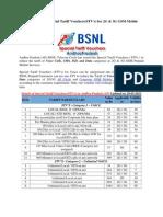 AP BSNL Prepaid Special Tariff Vouchers