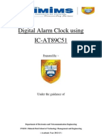 Digital Alarm Clock Using 8051