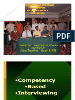 Competency Based Interviewing Workshop Slides (March 2005)- Chandramowly
