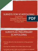 2013 Surveys