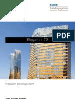 Elegance 72 - modulair aluminium gevelsysteem - Sapa Building System