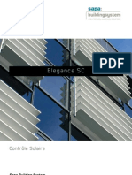 Elegance SC - contrôle solaire - Sapa Building System