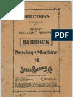 Burdick sewing machine manual