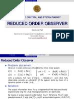 08 Reduced Order Observer