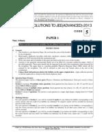 Jee Advanced 2013 Paper !