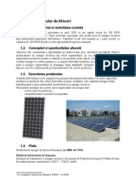 Plan de Afaceri - Sistem Fotovoltaic