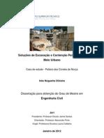 Inês Nogueira Oliveira - Soluções de Escavação e Contenção Periférica em Meio Urbano