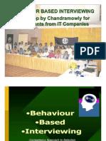 Behavior Based Interviewing IHRD Workshop - Chandramowly