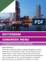 Rotterdam Congress Menu