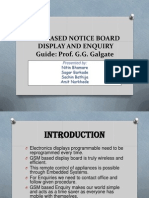 GSM BASED NOTICE BOARD        DISPLAY AND ENQUIRY