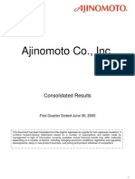 Consolidates Result Ajinomoto 2005