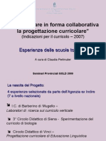 """Presentazione della ricerca-azione """"Documentare in forma collaborativa la progettazione curricolare"""""""