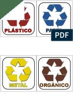 aviso - lixo reciclavel