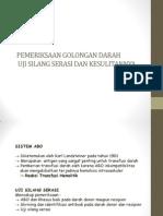 Pemeriksaan Golongan Darah Dan Kesulitannya Dr. Ellyani