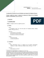 Temario, modelo de examen y criterios de evaluación 2013-2014