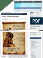 Monergismo Com Rc Sproul Lutero e a Reforma