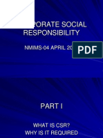 Corporate Social Responsibility Nmims Ppt