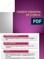 Tangent Equation of a Circle PPT 1