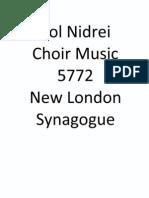 NLS Kol Nidrei Choir