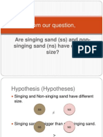 Statistic With Singing Sand