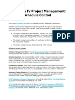Certificate IV Project Management - Schedule Control