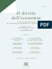 Il diritto dell'economia n. 1 2013