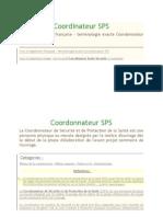 Coordinateur SPS