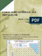 Caractere Generale Ale Metalelor