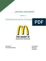 Global Brand - Mcdonalds' Strategies