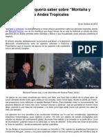 Cc-20121030-Todo Lo Que Ud Quer Iacute a Saber Sobre Monta Ntilde a y Glaciares en Los Andes Tropicales
