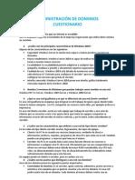 ADMINISTRACIÓN DE DOMINIOS cuestionario