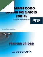 GEOGRAFÍA COMO CIENCIA DEL ESPACIO SOCIAL 1