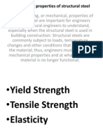 Engineering Properties of Structural Steel